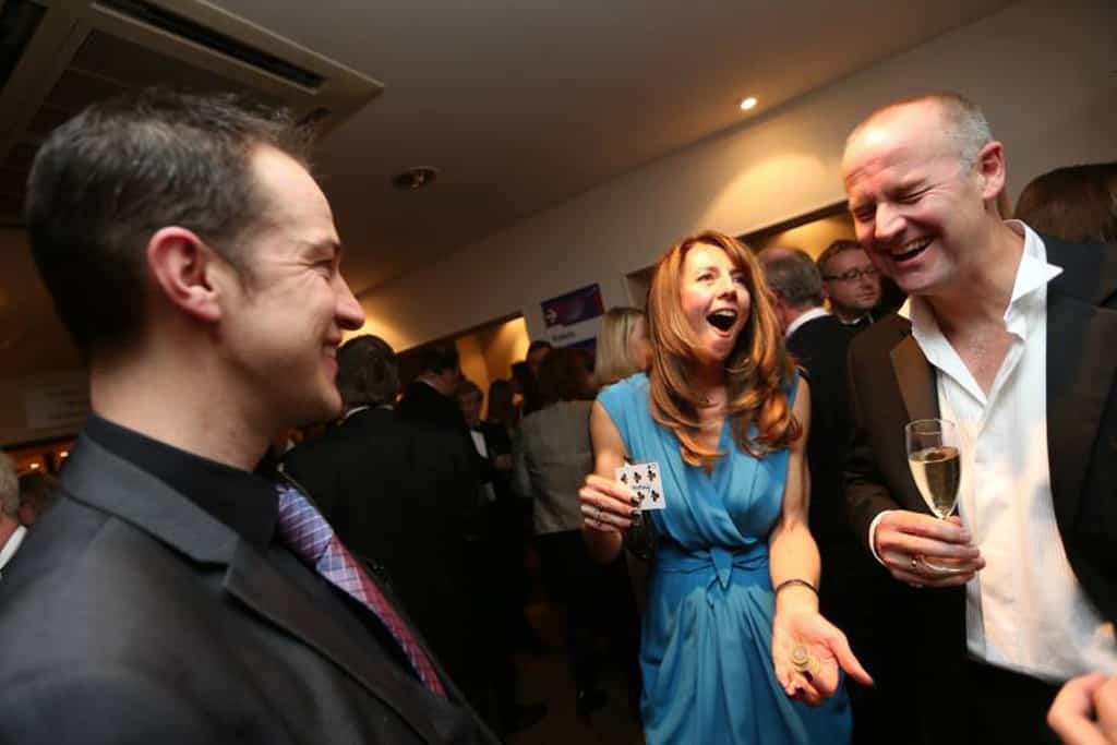 drinks reception corporate magician